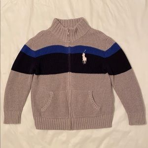Polo Ralph Lauren Cotton Full Zip Sweater
